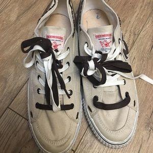 True Religion Canvas Cream Brown Sz 12 Shoes Lace